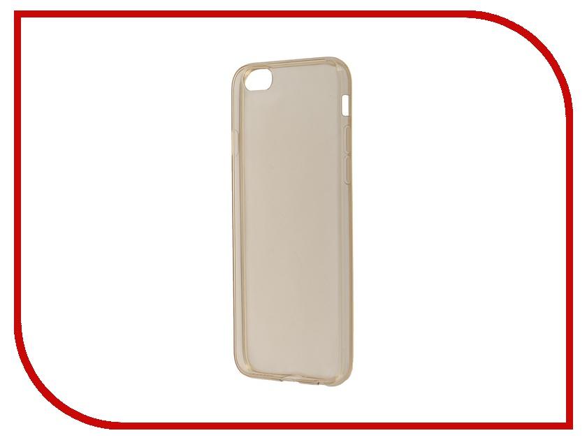 Аксессуар Чехол-накладка BROSCO для iPhone 6 / 6S Gold IP6-TPU-GOLD<br>
