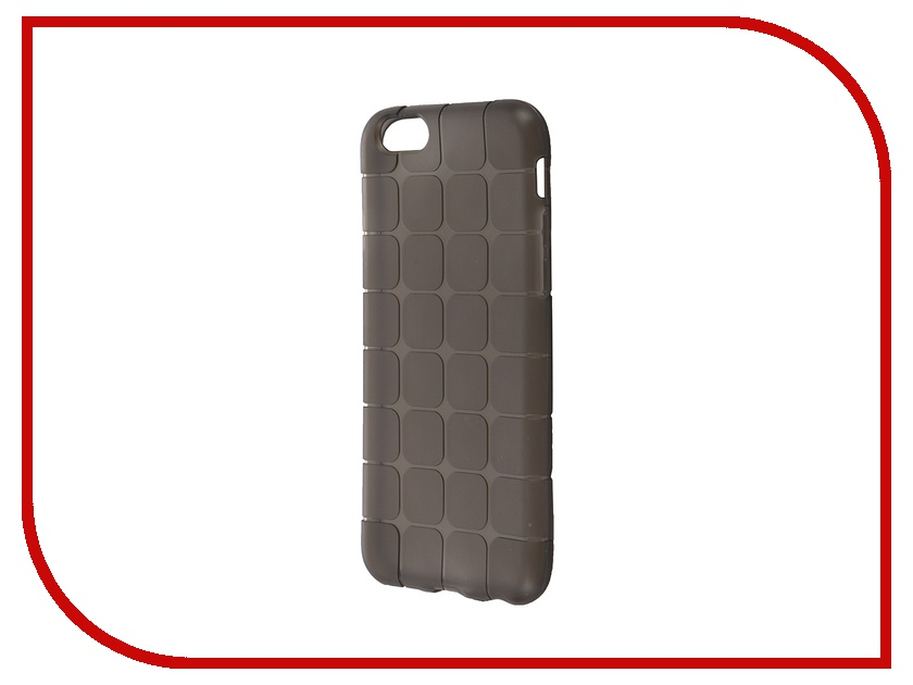 Аксессуар Чехол-накладка BROSCO для iPhone 6 / 6S Black IP6-MESH-TPU-BLACK<br>