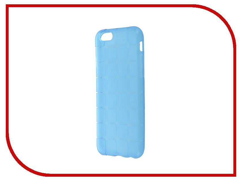 Аксессуар Чехол-накладка BROSCO для iPhone 6 / 6S Blue IP6-MESH-TPU-BLUE<br>
