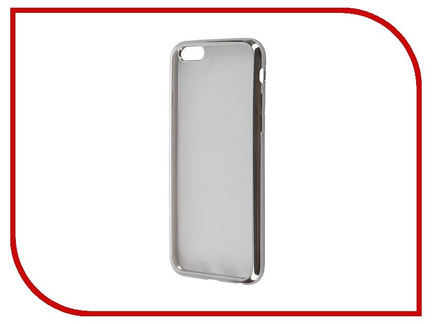 Аксессуар Чехол-накладка BROSCO для iPhone 6 / 6S Silver IP6-GALVANO-TPU-SILVER<br>