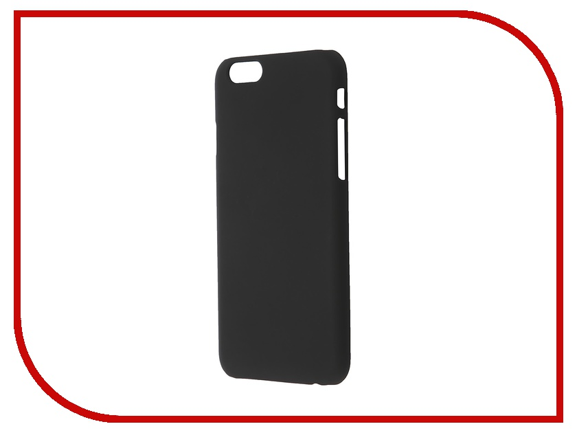Аксессуар Чехол-накладка BROSCO Softtouch для iPhone 6 Black IP6-SOFTTOUCH-BLACK