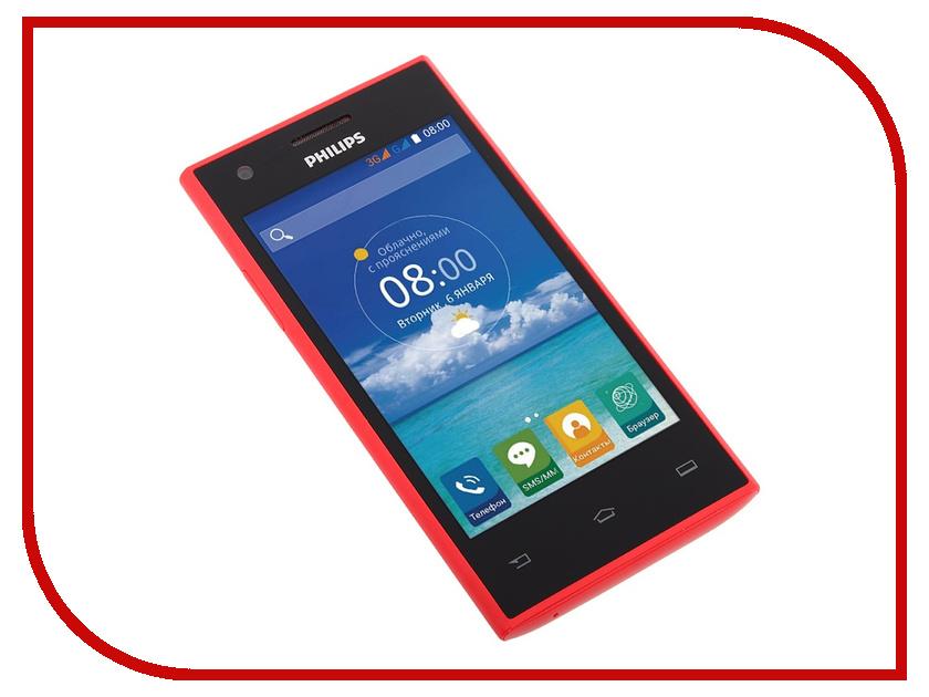 Сотовый телефон Philips S309 8Gb Red<br>