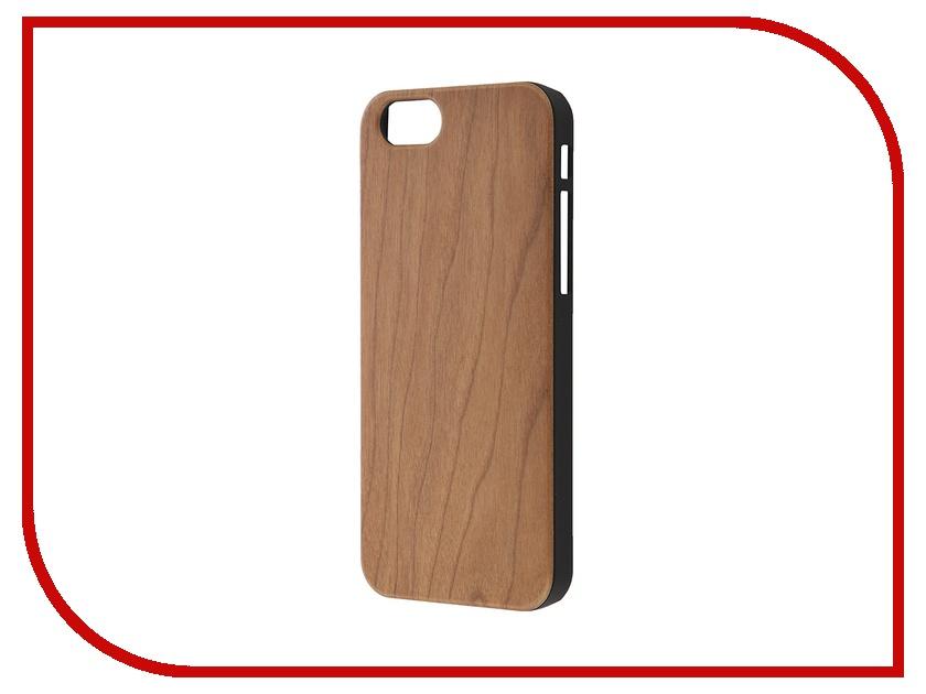 Аксессуар Чехол-накладка BROSCO Softtouch для iPhone 6 Венге IP6-WOOD-WENGE чехол brosco croco для iphone 6 черный с имитацией под крокодиловую кожу