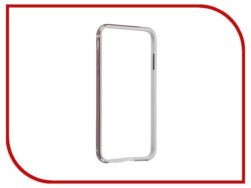 Аксессуар Чехол BROSCO Soft Touch для iPhone 6 / 6S Pink IP6-BUMPER-PINK<br>