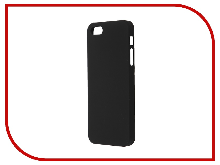 ��������� �����-�������� BROSCO Softtouch ��� iPhone 5 Black IP5-SOFTTOUCH-BLACK