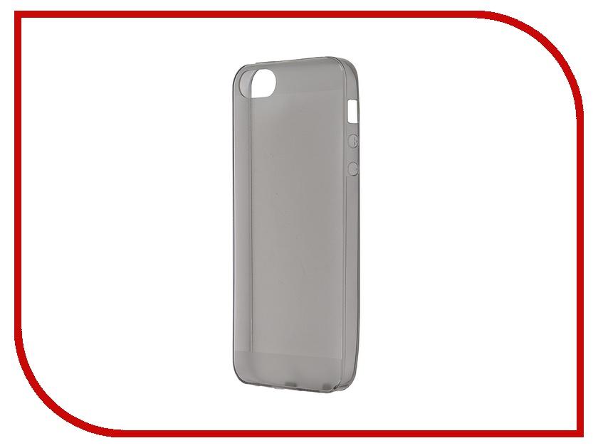 Аксессуар Чехол-накладка BROSCO для iPhone 5 Black IP5-TPU-BLACK<br>