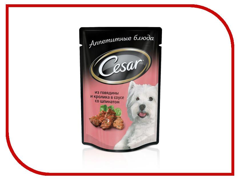 Корм Cesar Пауч Говядин / кролик / шпинат 100g для собак 10109431<br>