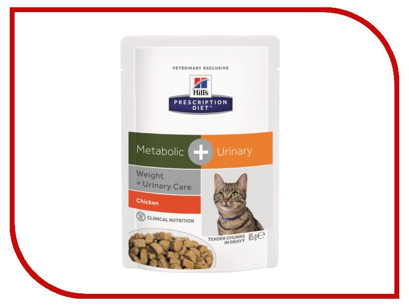 Корм Hills Metabolic + Urinary Диета для коррекции веса 85g для кошек 10048 корм для кошек хиллс metabolic urinary для коррекции веса урология пак 250г