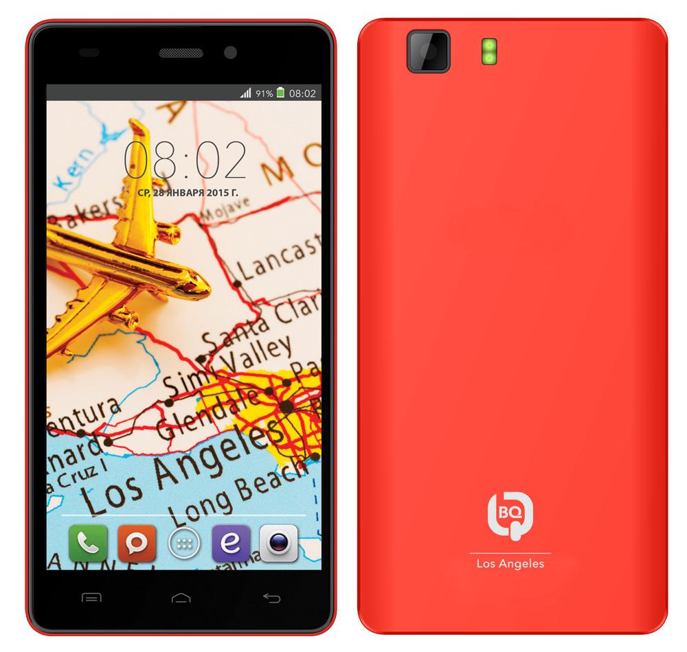 Сотовый телефон BQ BQS-5006 Los Angeles Red<br>