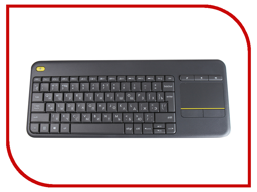 Фото Клавиатура Logitech Wireless Touch Keyboard K400 Plus Black 920-007147