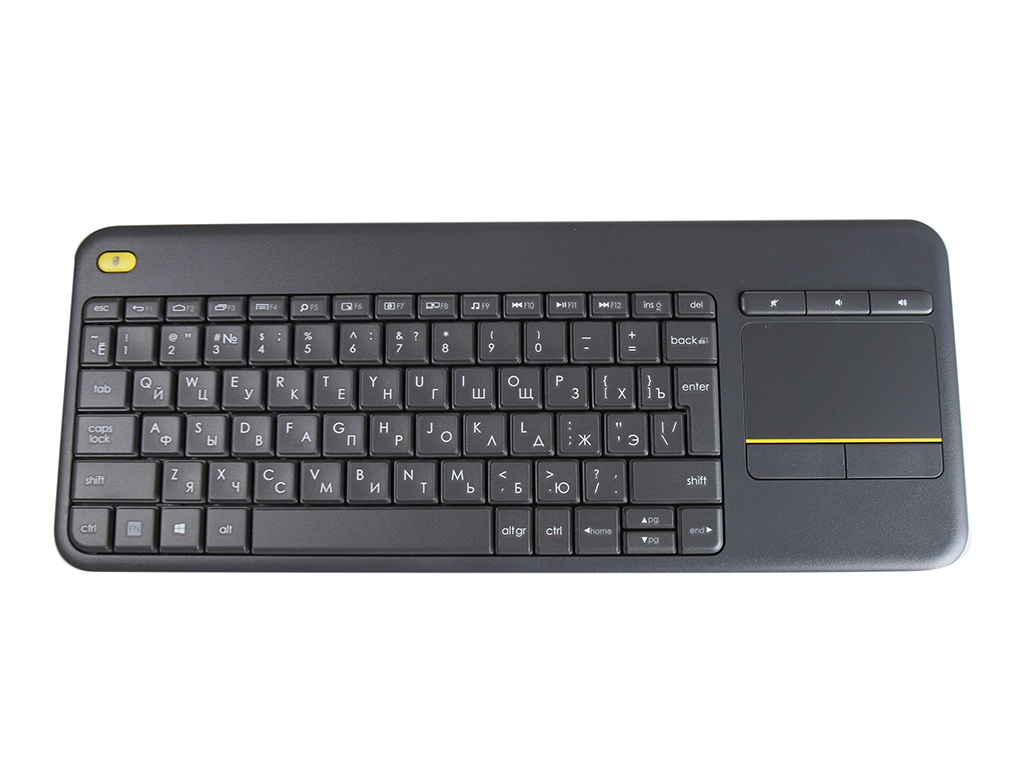 Клавиатура Logitech Wireless Touch Keyboard K400 Plus Black 920-007147