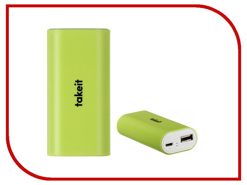 Аккумулятор Takeit Basic 5200 mAh TKTPBAB5200GRN Green<br>