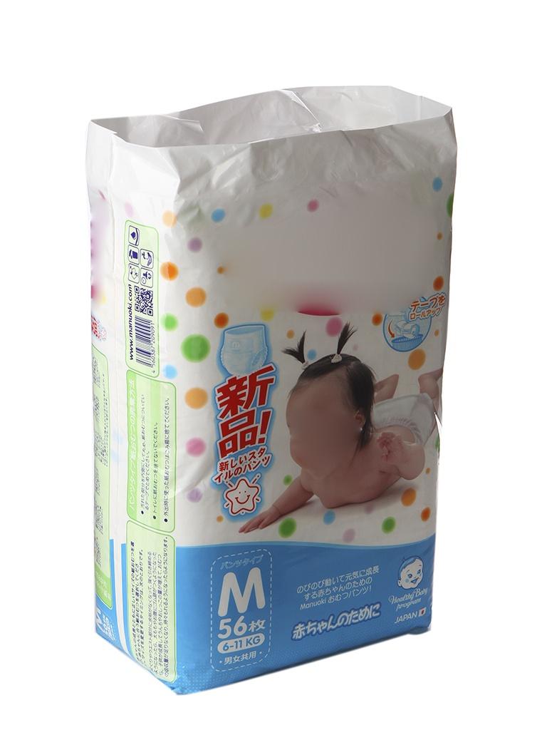 цена Подгузники Manuoki M 6-11кг 56шт онлайн в 2017 году