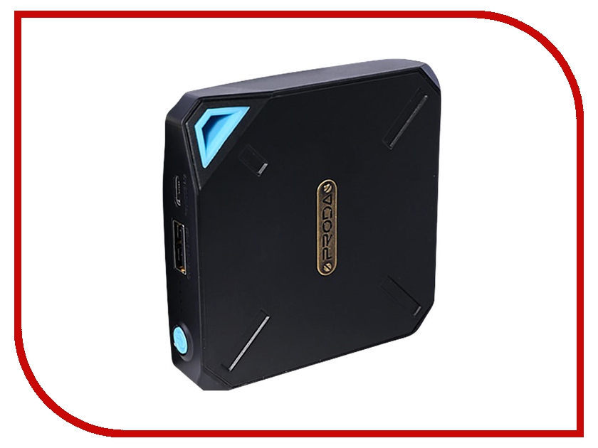 Аккумулятор Remax PR1-003 Macro Power Box 10000 mAh Black-Blue<br>