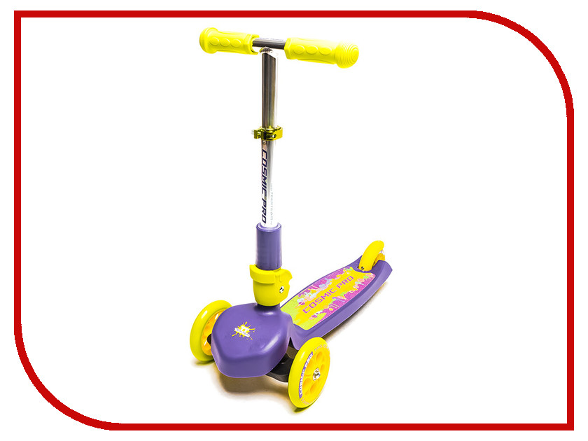 Самокат Tech Team TT Cosmic Pro Purple-Yellow