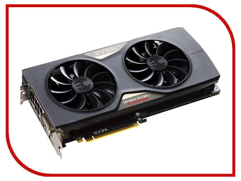 ���������� EVGA GeForce GTX 980 Ti 1190Mhz PCI-E 3.0 6144Mb 7010Mhz 384 bit DVI HDMI HDCP 06G-P4-4998-KR
