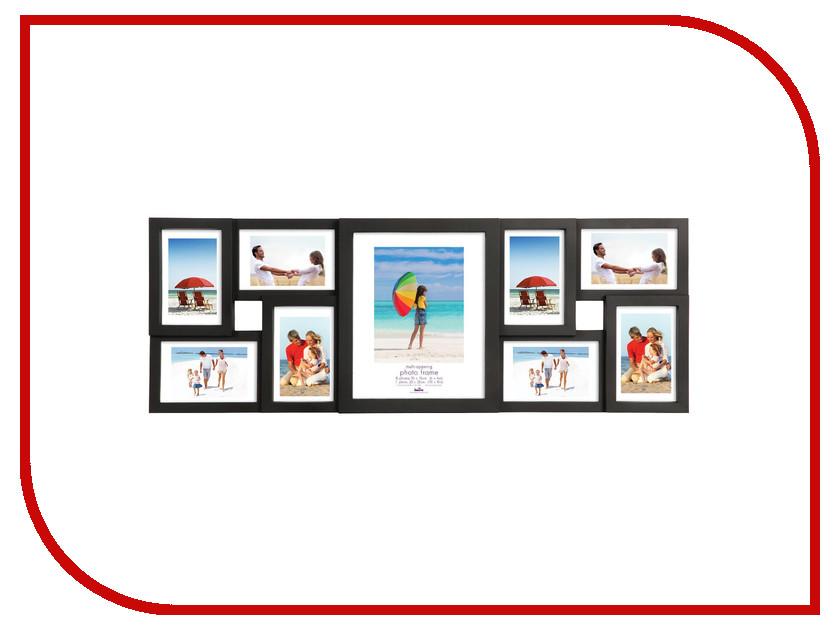 Рамка для фото Innova Maggiore XVIII 20х25/1 и 10х15/8 PI03823 Black<br>