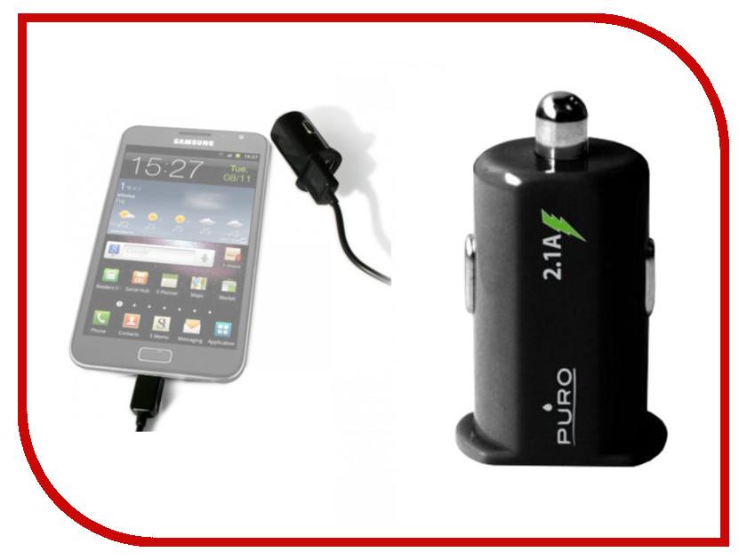 Зарядное устройство PURO 2xUSB 2.1A MCH2USBBLK Black<br>