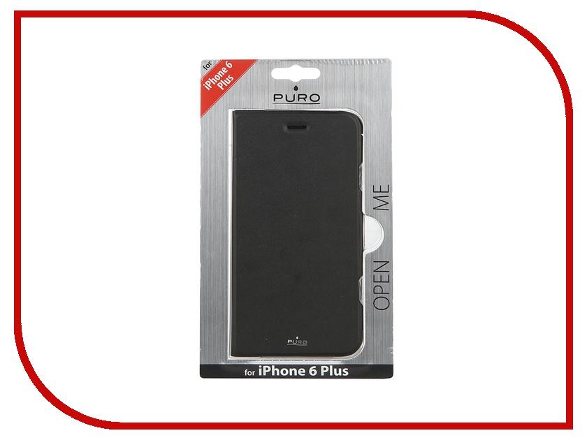 Аксессуар Чехол PURO Eco-Leather Cover для iPhone 6 Plus Black IPC655BOOKC1BLK<br>