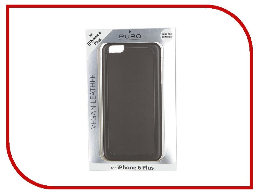 Аксессуар Чехол PURO Vegan Eco-Leather Cover для iPhone 6 Plus Grey IPC655VEGANGREY<br>