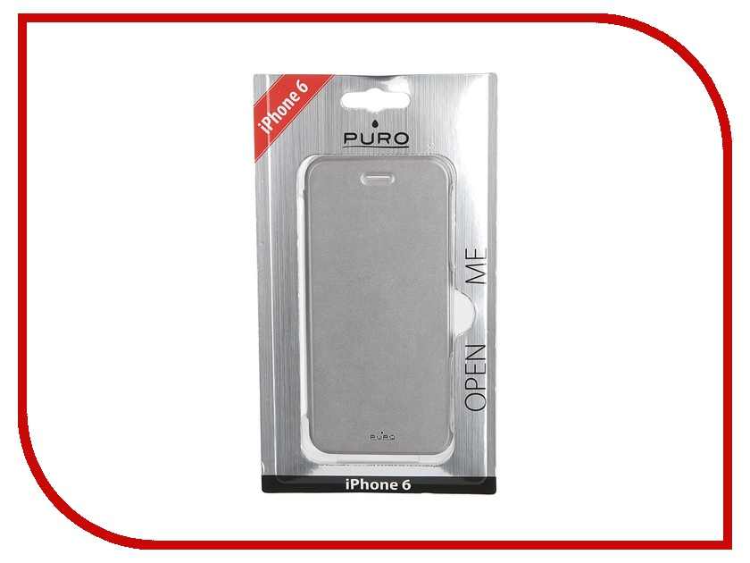 Аксессуар Чехол PURO Eco-Leather Cover для iPhone 6 Silver IPC647BOOKCCRYSIL<br>