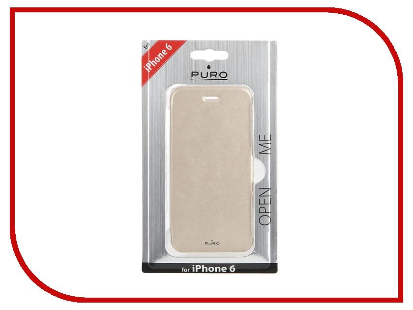 Аксессуар Чехол PURO Eco-Leather Cover для iPhone 6 Gold IPC647BOOKCCRYGOLD<br>