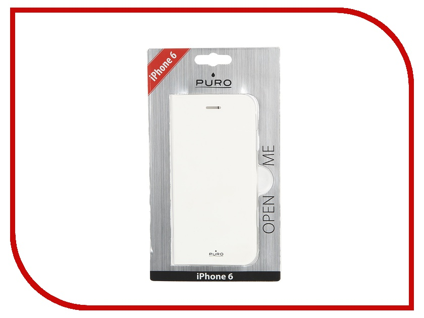 Аксессуар Чехол PURO Eco-Leather Cover для iPhone 6 White IPC647BOOKC1WHI 100 ipc
