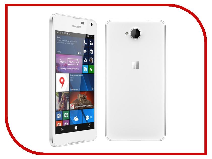 Сотовый телефон Microsoft 650 Lumia White<br>