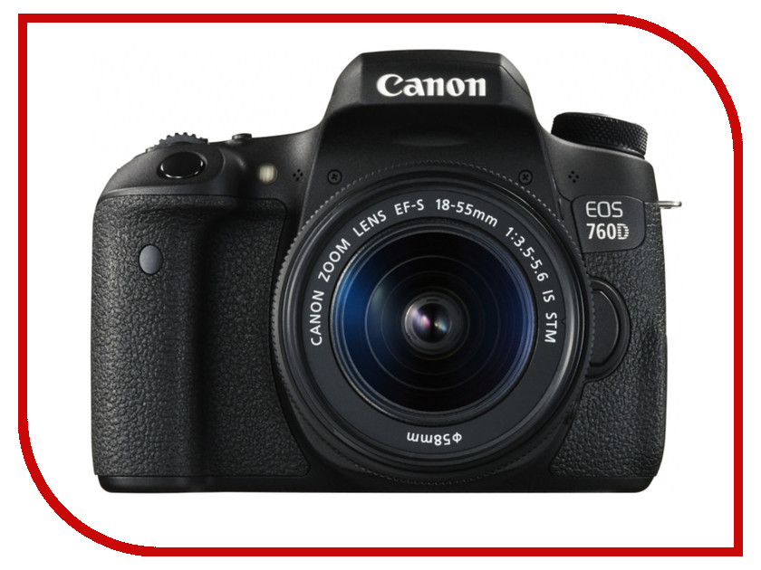 Фотоаппарат Canon EOS 760D Kit EF-S 18-55 mm F/3.5-5.6 III DC фотоаппарат canon eos 1200d kit ef s 18 55 is ii black