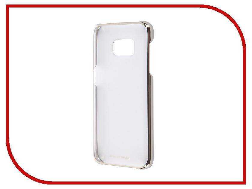 Аксессуар Чехол-накладка Samsung Galaxy S7 Clear Cover Gold EF-QG930CFEGRU<br>