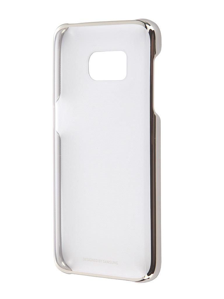 Аксессуар Чехол Samsung Galaxy S7 Clear Cover Gold EF-QG930CFEGRU<br>