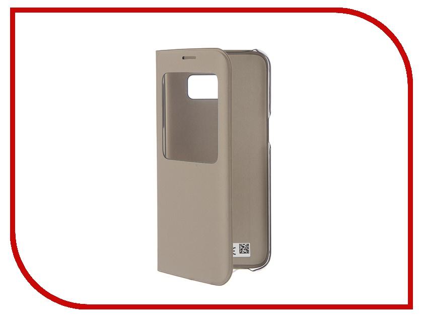цена на Аксессуар Чехол Samsung Galaxy S7 Edge S View Cover Gold EF-CG935PFEGRU