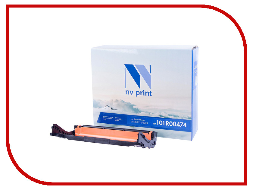 Картридж NV Print 101R00474 для Xerox Phaser 3052/3215/3260 картридж nv print 106r02782 black для phaser 3052 3260 wc 3215 3225 6000k 2шт