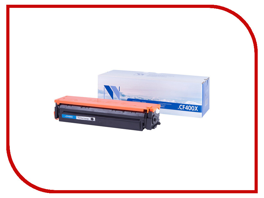 Картридж NV Print CF400X Black для HP LaserJet Pro M252/MFP M277 nv print cf303a magenta тонер картридж для hp laserjet enterprise flow mfp m880z m880z plus m880z plus nfc