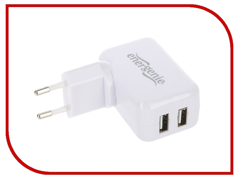 Зарядное устройство Energenie EG-UC-AC1-B White<br>