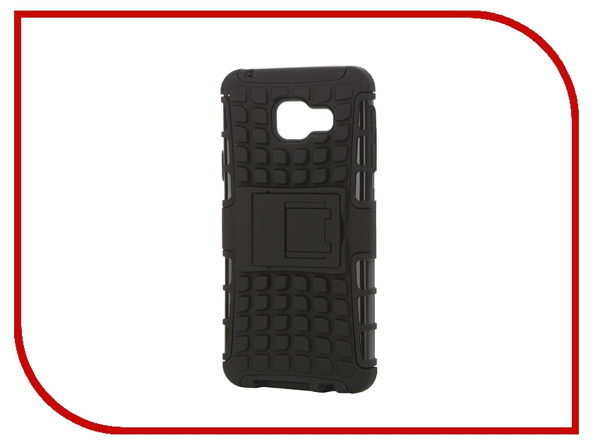 Аксессуар Чехол-накладка Samsung Galaxy A3 2016 SkinBox Defender Case Black T-S-SGA32016-06<br>