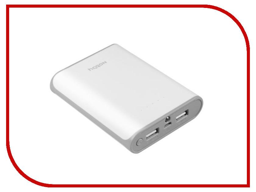 Аккумулятор Nobby Practic 014-001 10000 mAh 2xUSB 2.1А White 09278<br>