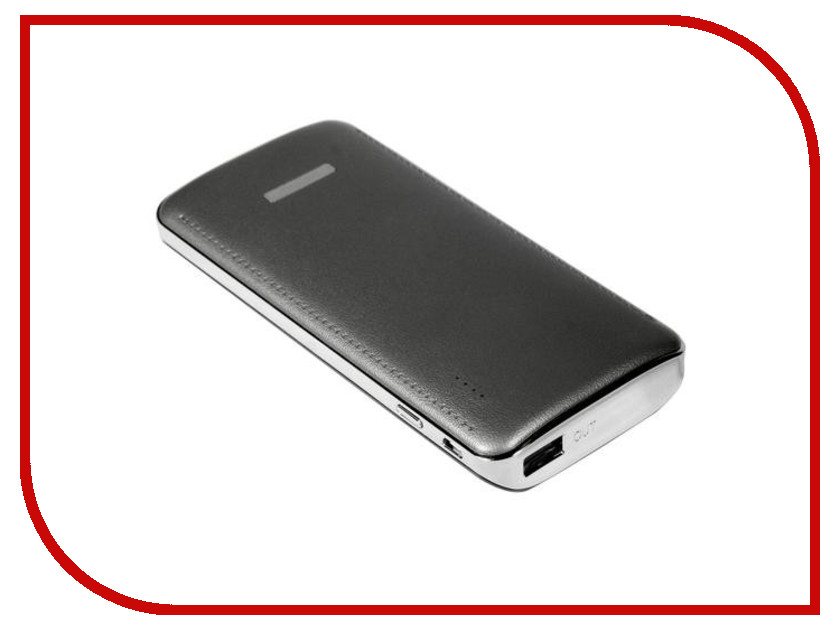Аккумулятор Nobby Comfort 017-001 10000mAh USB 1.2А Graphite 09281 чехол универсальный nobby comfort wm 001 для телефонов s кожа черный