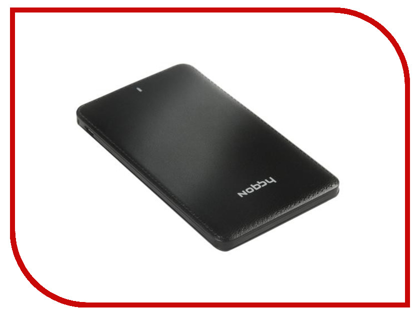 Аккумулятор Nobby Slim 025-001 4000 mAh USB 1.2А Black 09282<br>