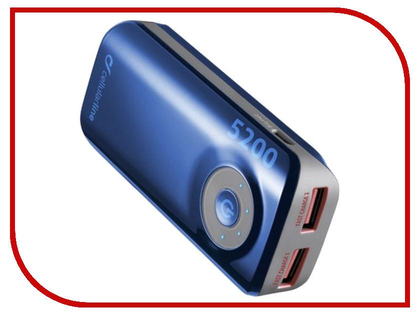 Аккумулятор Cellular Line 5200 mAh Blue FREEPOWER5200B