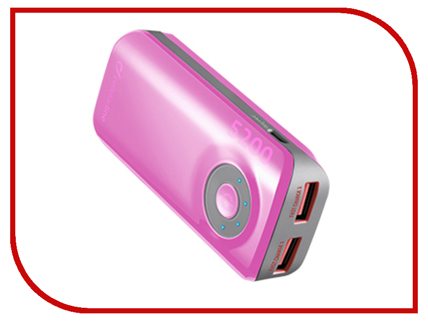 Аккумулятор Cellular Line 5200 mAh Pink FREEPOWER5200P<br>