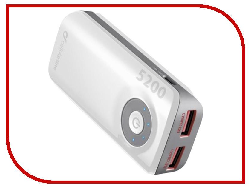 Аккумулятор Cellular Line 5200 mAh White FREEPOWER5200W