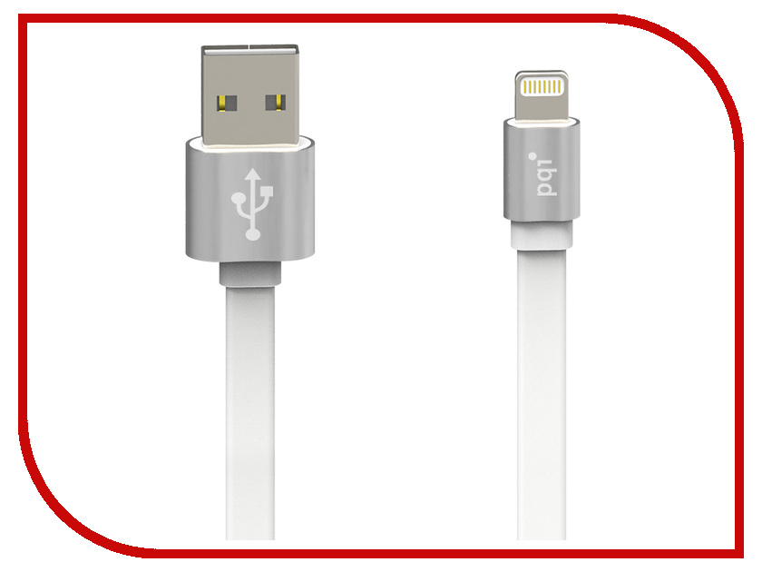 Аксессуар PQI USB to Lightning 100cm для iPhone/iPad/iPod Silver 6ZC190701R001A<br>