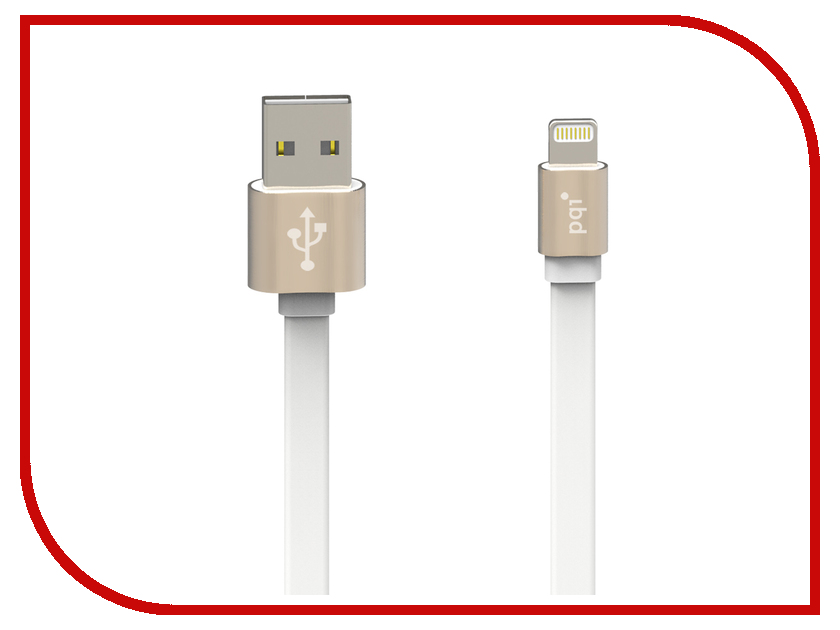Аксессуар PQI USB to Lightning 100cm для iPhone/iPad/iPod Gold 6ZC190701R003A<br>