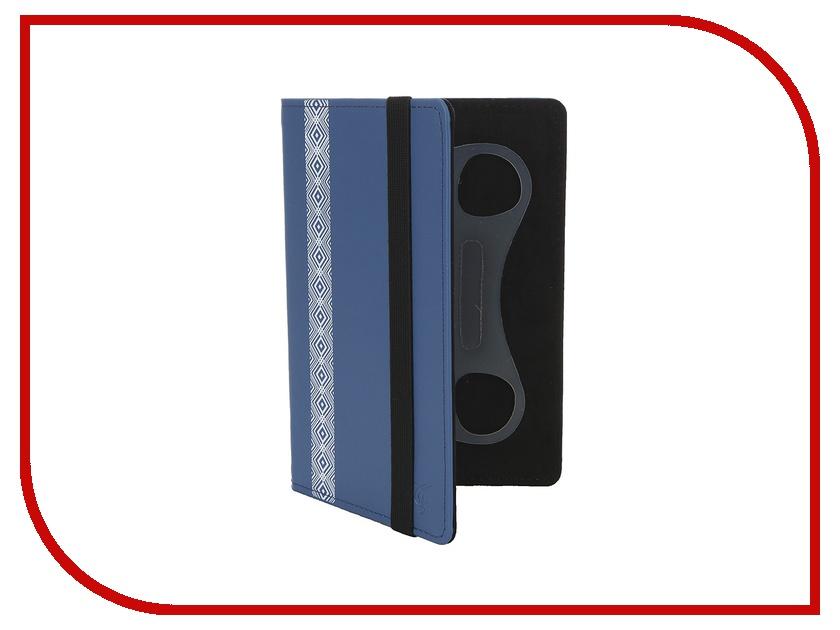 Аксессуар Чехол 7-inch Vivacase Romb Blue VUC-CRM07-blue