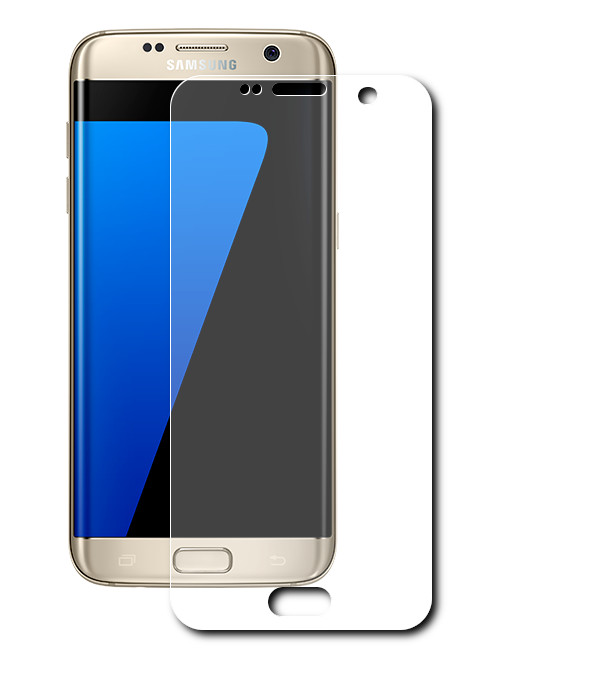 Аксессуар Защитная пленка LuxCase прозрачная На весь экран для Samsung Galaxy S7 88106 аксессуар защитная пленка samsung g530 galaxy grand prime borasco прозрачная
