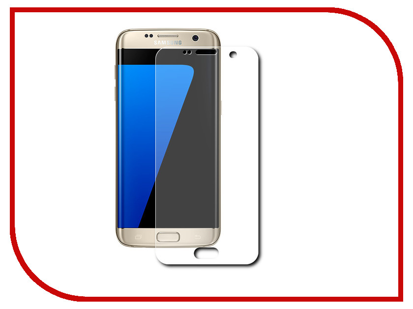 Аксессуар Защитная пленка Samsung Galaxy S7 Edge LuxCase прозрачная На весь экран 88107 защитная пленка luxcase для samsung galaxy s6 edge front