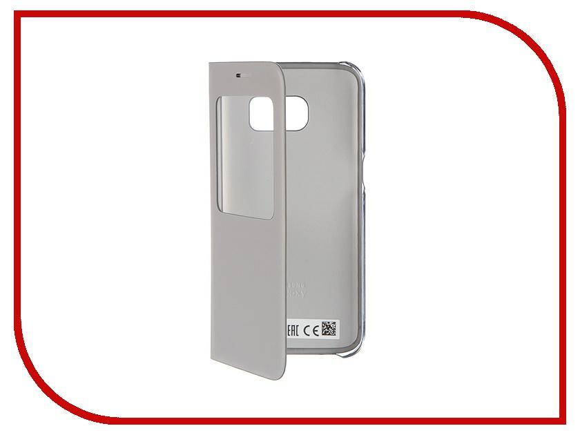 Аксессуар Чехол Samsung Galaxy S7 S View Cover Silver EF-CG930PSEGRU<br>