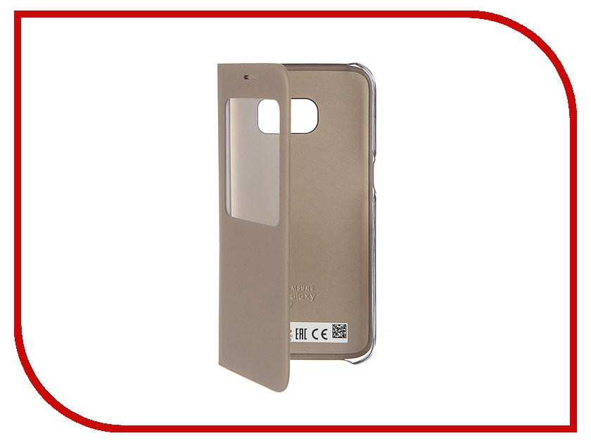 Аксессуар Чехол Samsung Galaxy S7 S View Cover Gold EF-CG930PFEGRU<br>