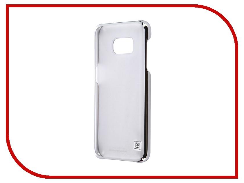 Аксессуар Чехол-накладка Samsung Galaxy S7 Clear Cover Silver EF-QG930CSEGRU<br>